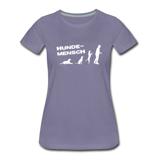 Neue Farbe! - Frauenshirt - Hundemensch - Frauen Premium T-Shirt