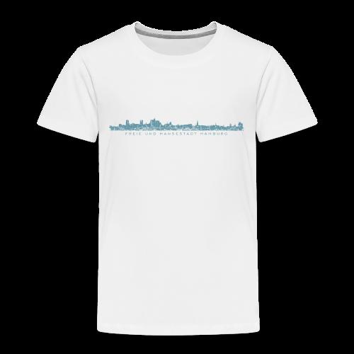 Freie und Hansestadt Hamburg Skyline EP (Blau) Kinder T-Shirt - Kinder Premium T-Shirt