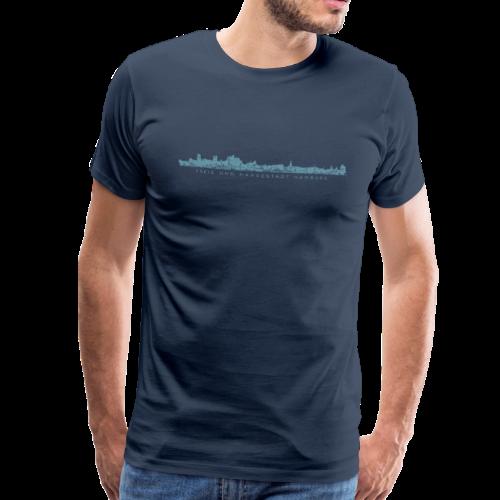 Freie und Hansestadt Hamburg Skyline EP (Blau) S-5XL T-Shirt - Männer Premium T-Shirt