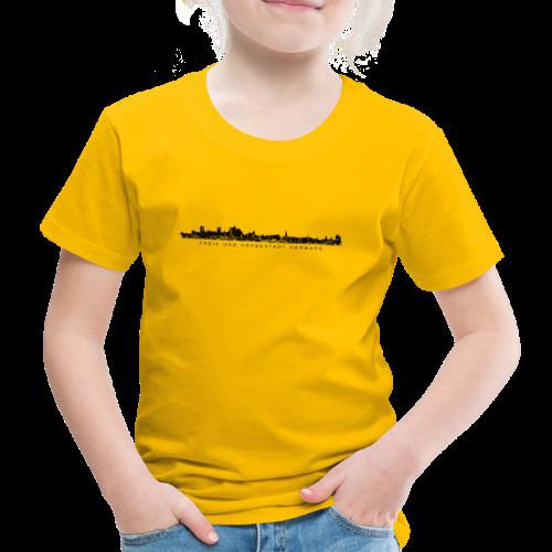 Hamburg Skyline mit Elbphilharmonie (Schwarz) Kinder T-Shirt - Kinder Premium T-Shirt