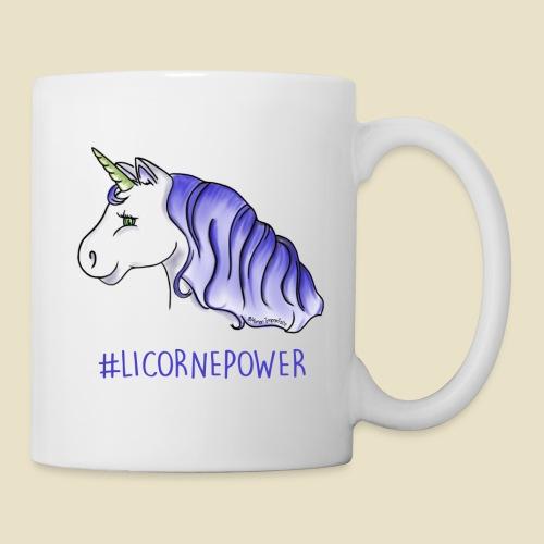 Tasse  #LicornePower version bleue - Mug blanc
