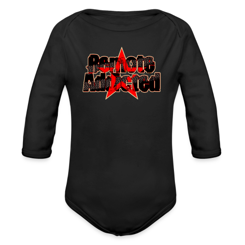 Remote Addicted Classic Baby Wear - Baby Bio-Langarm-Body