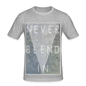 Grime Apparel Never Blend In Graphic Shirt.  - Men's Slim Fit T-Shirt