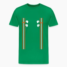 Irish shoulder strap shamrocks Men's Premium T-S