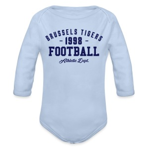 Tigers Athletic Baby - Organic Longsleeve Baby Bodysuit