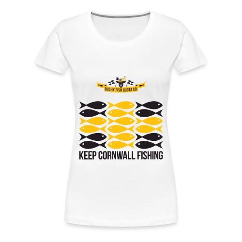 DFQC KCF Flag Woman Tshirt - White - Women's Premium T-Shirt