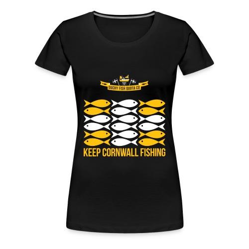 DFQC KCF Flag Woman Tshirt - Black - Women's Premium T-Shirt