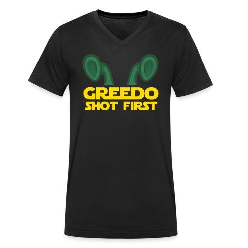 Greedo Shot First - Mannen bio T-shirt met V-hals van Stanley & Stella