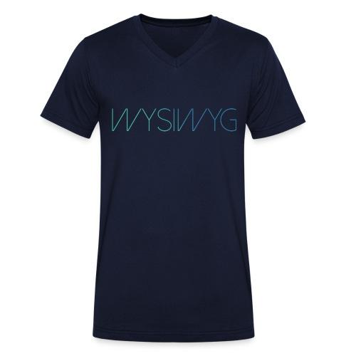 WYSIWYG - male  - Mannen bio T-shirt met V-hals van Stanley & Stella