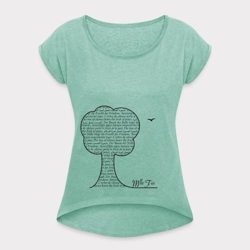 s.hirt - t.ree  - Frauen T-Shirt mit gerollten Ärmeln