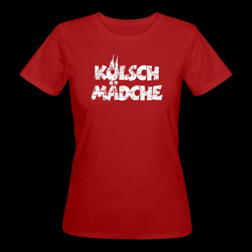 Kölsch Mädche (Vintage Weiß) Köln Bio T-Shirt - Frauen Bio-T-Shirt