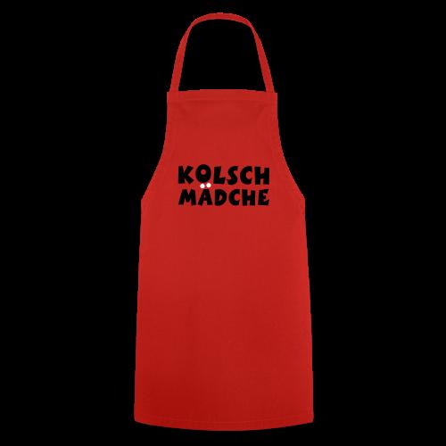 Kölsch Mädche met Ö un Ä (Schwarz/Weiß) Kochschürze - Kochschürze