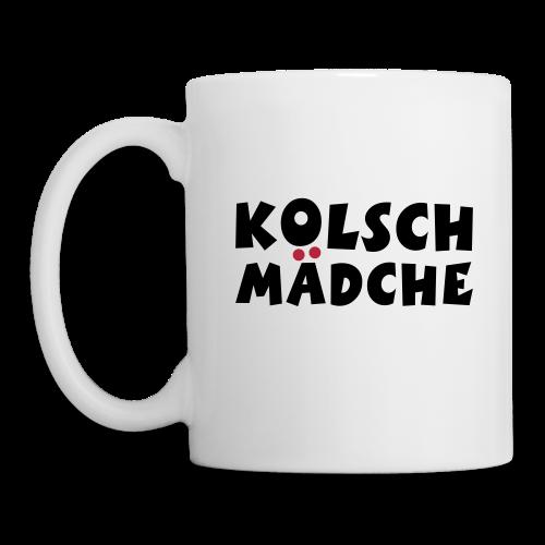 Kölsch Mädche met Ö un Ä (Schwarz/Rot) Tasse - Tasse