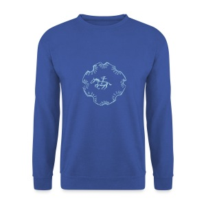 Indian Rider, Men Pulli ( Print: Digital Light Blue) - Männer Pullover