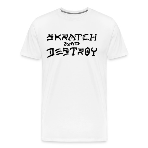 White Skratch and Destroy T-Shirt - Men's Premium T-Shirt