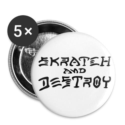 Skratch and Destroy button badges(5) - Buttons medium 1.26/32 mm (5-pack)