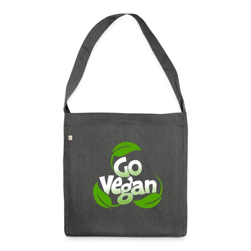 Go vegan Umhängetasche - Schultertasche aus Recycling-Material