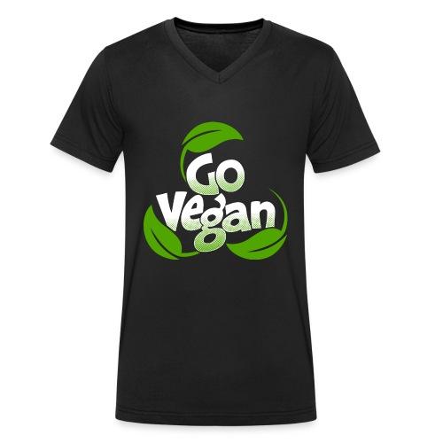 Go vegan Shirt Herren - Männer Bio-T-Shirt mit V-Ausschnitt von Stanley & Stella