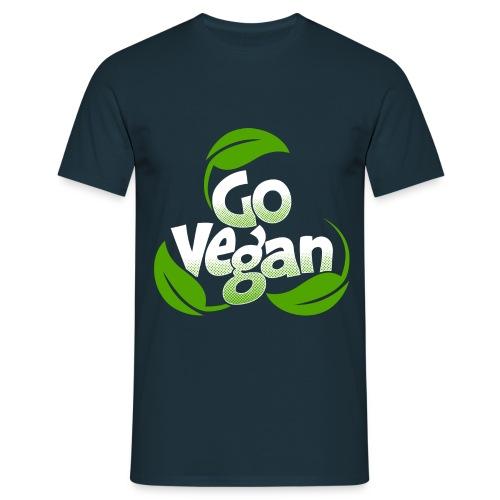 Go Vegan Shirt Herren - Männer T-Shirt