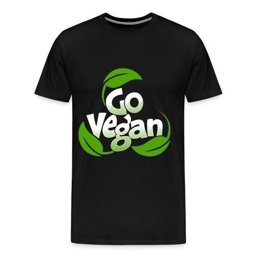 Go vegan Shirt Herren - Männer Premium T-Shirt