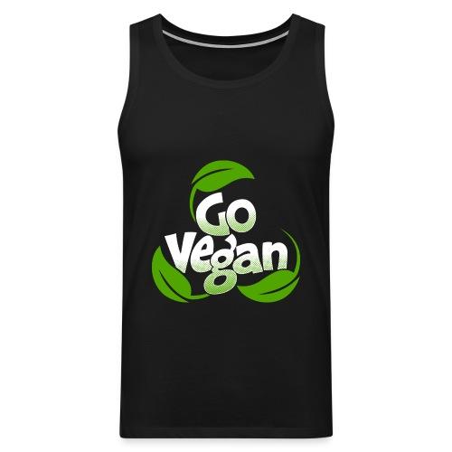 Go vegan Muscle Shirt Herren - Männer Premium Tank Top