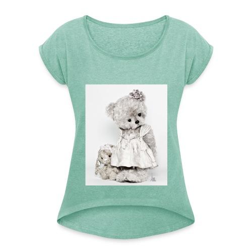 T-shirt à manches retroussées Femme - teddy bear,ours en peluche,ours,nounours,les petits lutéciens