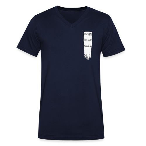 ngoma men´s v-neck navy - Männer Bio-T-Shirt mit V-Ausschnitt von Stanley & Stella
