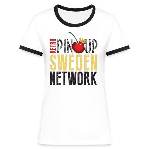 Crewshirt Member - Kontrast-T-shirt dam