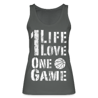 Women's Organic Tank Top by Stanley & Stella with design One Life. One Love. One Game. (used look)
