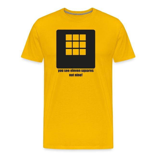 Es sind elf, nicht neun Quadrate
