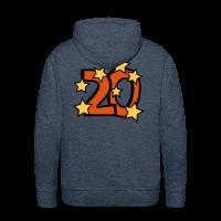 20. Geburtstag Männer Hoodie - Zahl 20 mit Sternchen