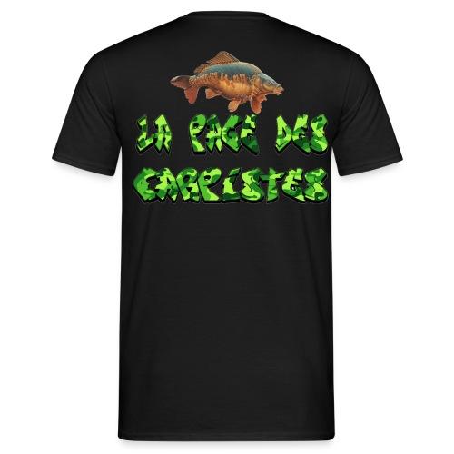 t-shirt la page des carpistes style camouflage  - T-shirt Homme