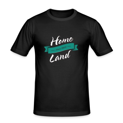 Homeland T-Shirt schwarz/türkis - Männer Slim Fit T-Shirt