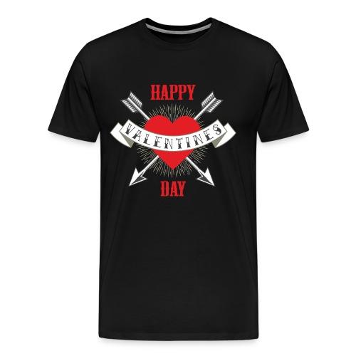Happy Valentins Day Heart - RAHMENLOS Liebe Ehe Pärchen in Love - Männer Premium T-Shirt