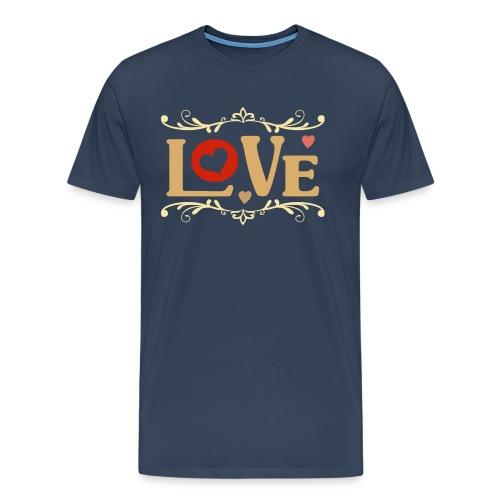 Valentinstag Geschenk - Valentine Love auf dunkel - RAHMENLOS Liebe Ehe Pärchen in Love - Männer Premium T-Shirt