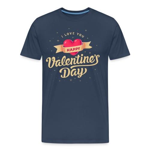 Valentinstag Geschenk - Valentine vintage ohne Jahreszahl - RAHMENLOS Liebe Ehe Pärchen in Love - Männer Premium T-Shirt