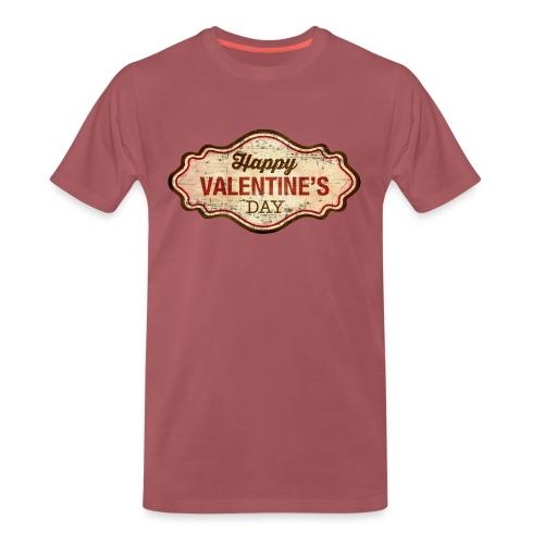 Valentinstag Geschenk - Valentine-Plate-distress - RAHMENLOS Liebe Ehe Pärchen in Love - Männer Premium T-Shirt
