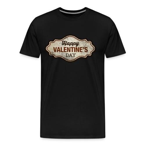 Valentinstag Geschenk - Valentine-Plate-used-Look - RAHMENLOS Liebe Ehe Pärchen in Love - Männer Premium T-Shirt