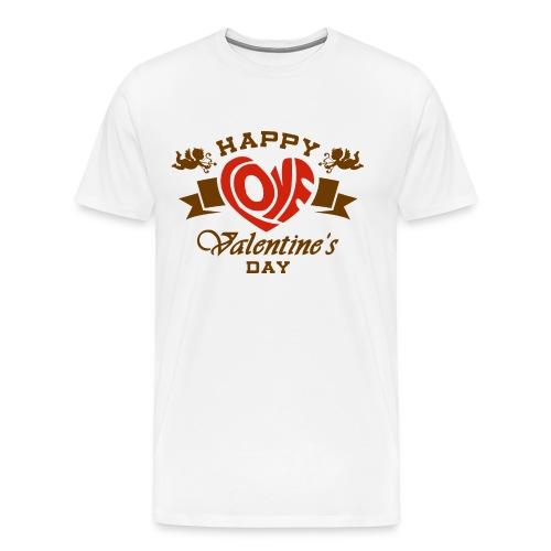 Valentinstag Geschenk - Valentine Happy Love 2 - RAHMENLOS Liebe Ehe Pärchen in Love - Männer Premium T-Shirt