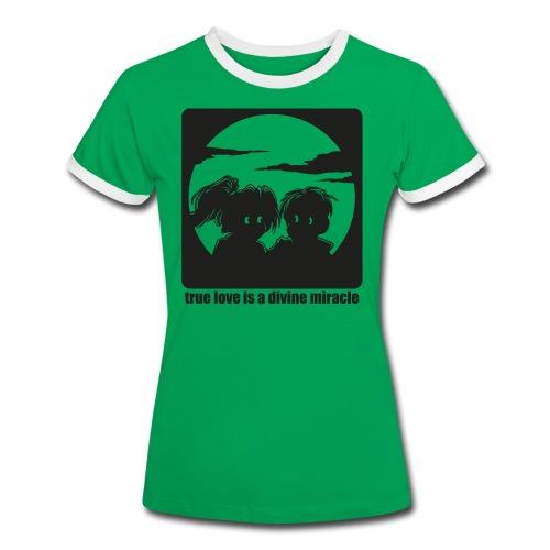 Wahre Liebe - Frauen Kontrast-T-Shirt