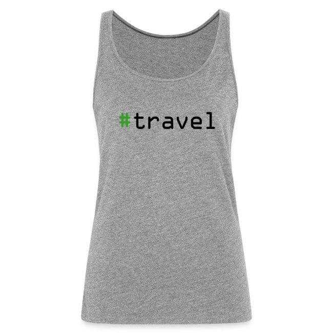 """Damen Premium Top """"#travel"""""""