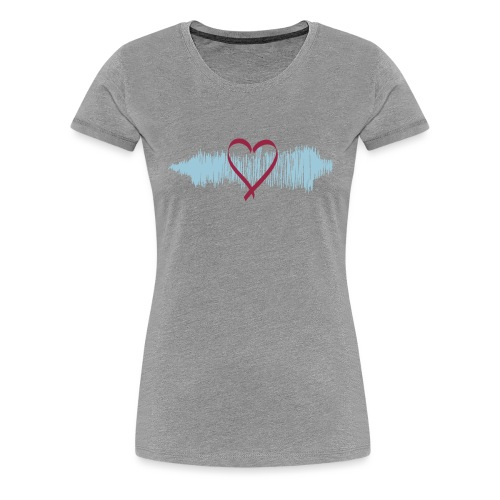 Damen Premium T-Shirt Heart Beat - Frauen Premium T-Shirt