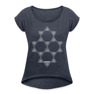 Blue Star easy shirt - Women's T-shirt with rolled up sleeves