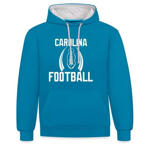 Carolina Football Hoodie - Kontrast-Hoodie