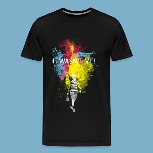 It wasnt me - Color - Männer Premium T-Shirt