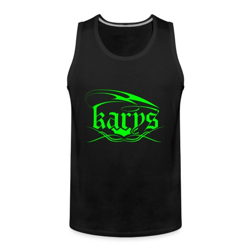 Karys Gym Wear Neon Green Black Tank - Männer Premium Tank Top