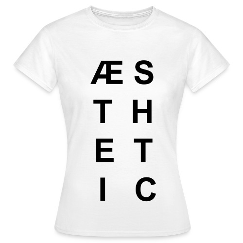 Aesthetic (weiss) - Frauen T-Shirt
