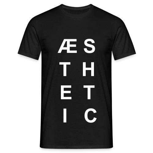 Aesthetic (schwarz) - Männer T-Shirt