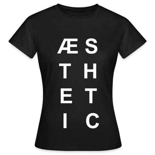 Aesthetic (schwarz) - Frauen T-Shirt