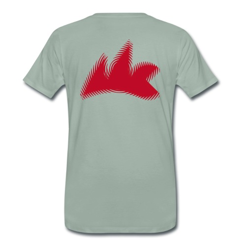 T-Shirt, versch. Farben, verwischtes Klassenzeichen, das Rot des Klassenzeichens ist ein relativ dunkles Rot. - Männer Premium T-Shirt